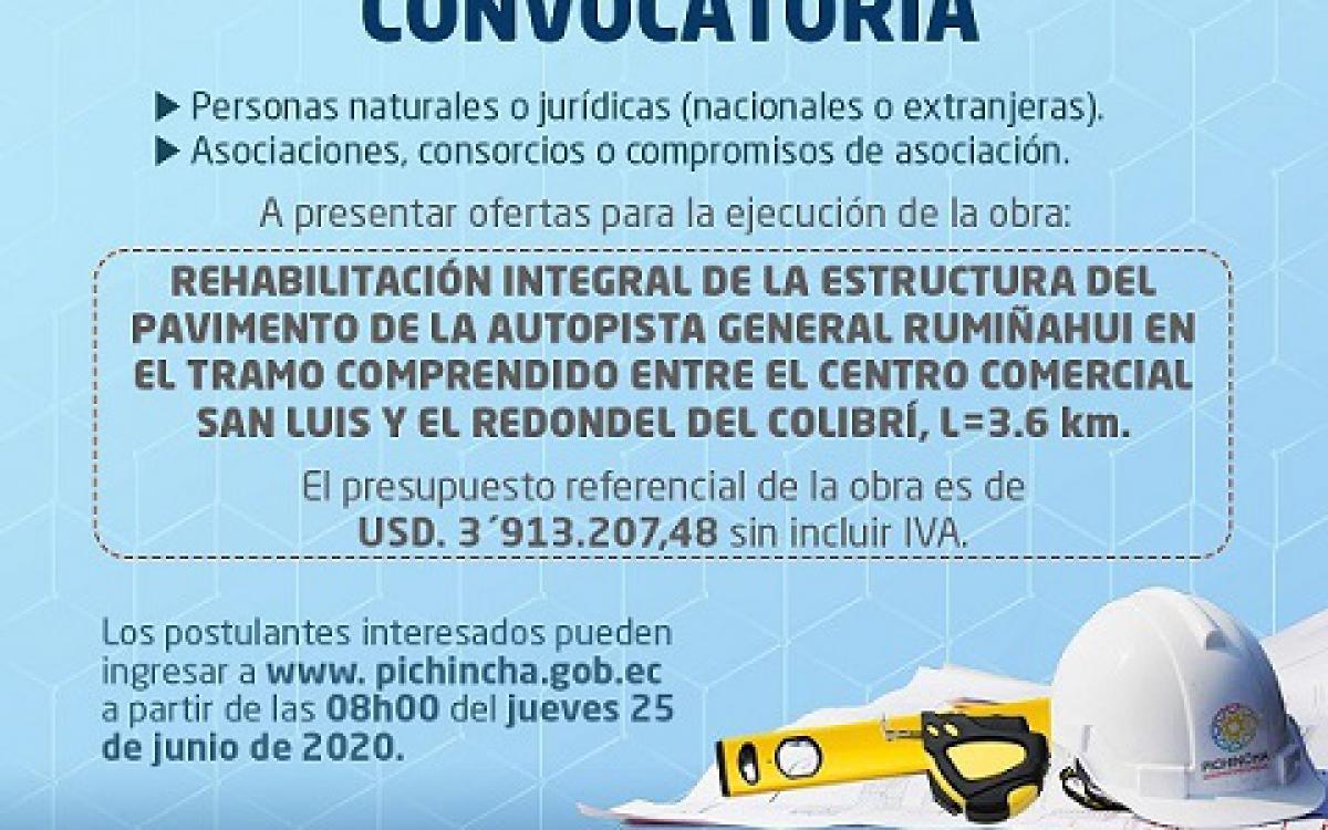 INVITACION a Licitación Pública Internacional de Obras